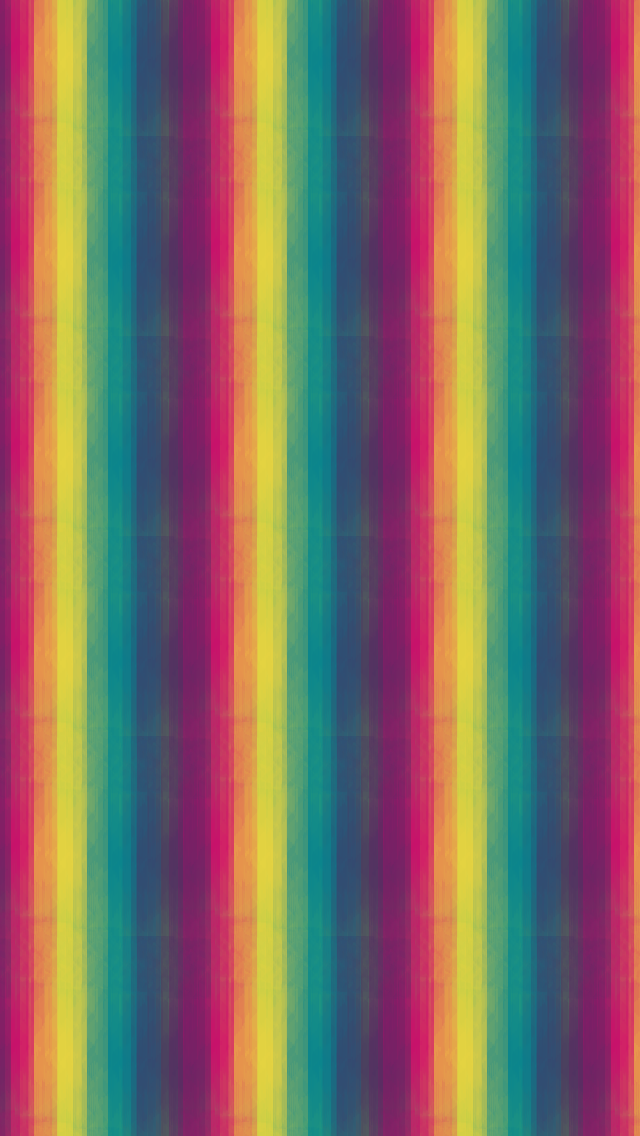 Rainbow Stripe Pattern iPhone Wallpapers