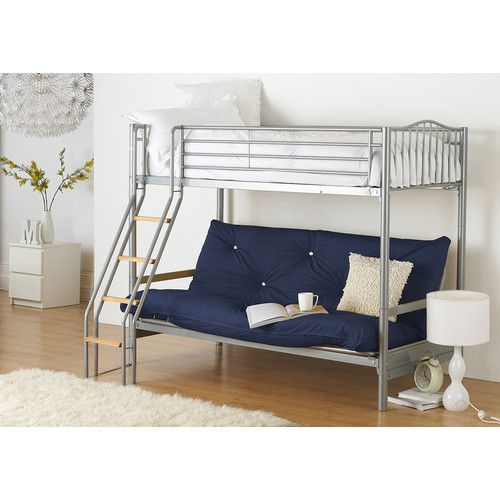 alaska futon bunk bed the alaska creates that cool bed sit effect  the raised bunk reached via the new grab handle   swimming pool   ladder w  found it at wayfair co uk   halkyn twin futon bunk bed                       rh   pinterest