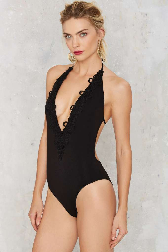 Sadie Plunging Bodysuit - Party Shop | Do East | Best Sellers | Bodysuits