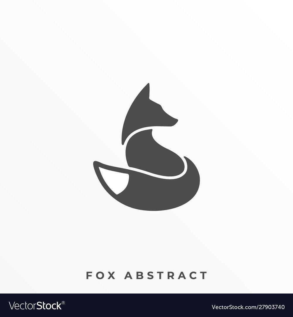 Fox Silhouette Illustration Vector Template Suitable For Creative Industry Multimedia Entertainm Fox Silhouette Silhouette Illustration Pet Shop Logo Design