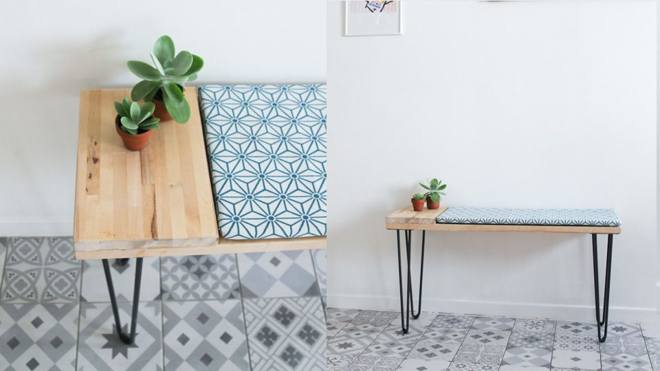 une banquette scandinave diy diy deco decor diy pinterest. Black Bedroom Furniture Sets. Home Design Ideas