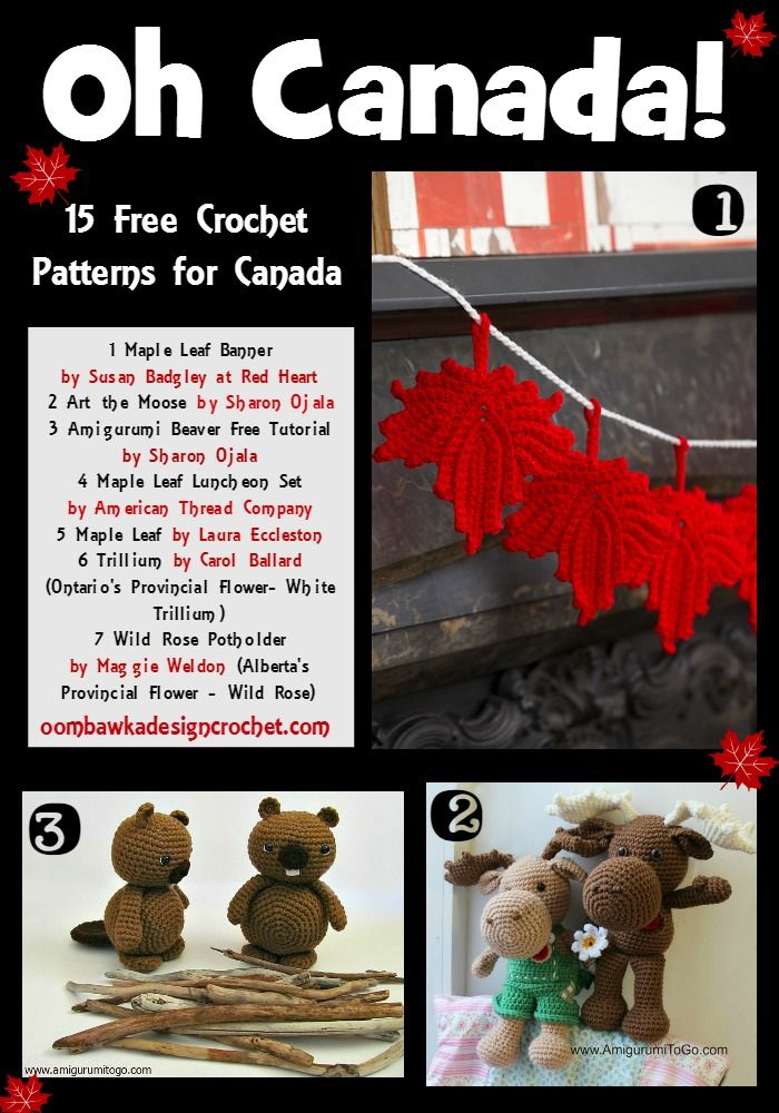 Oh Canada… Crochet Patterns for Canada | animalitos | Pinterest ...