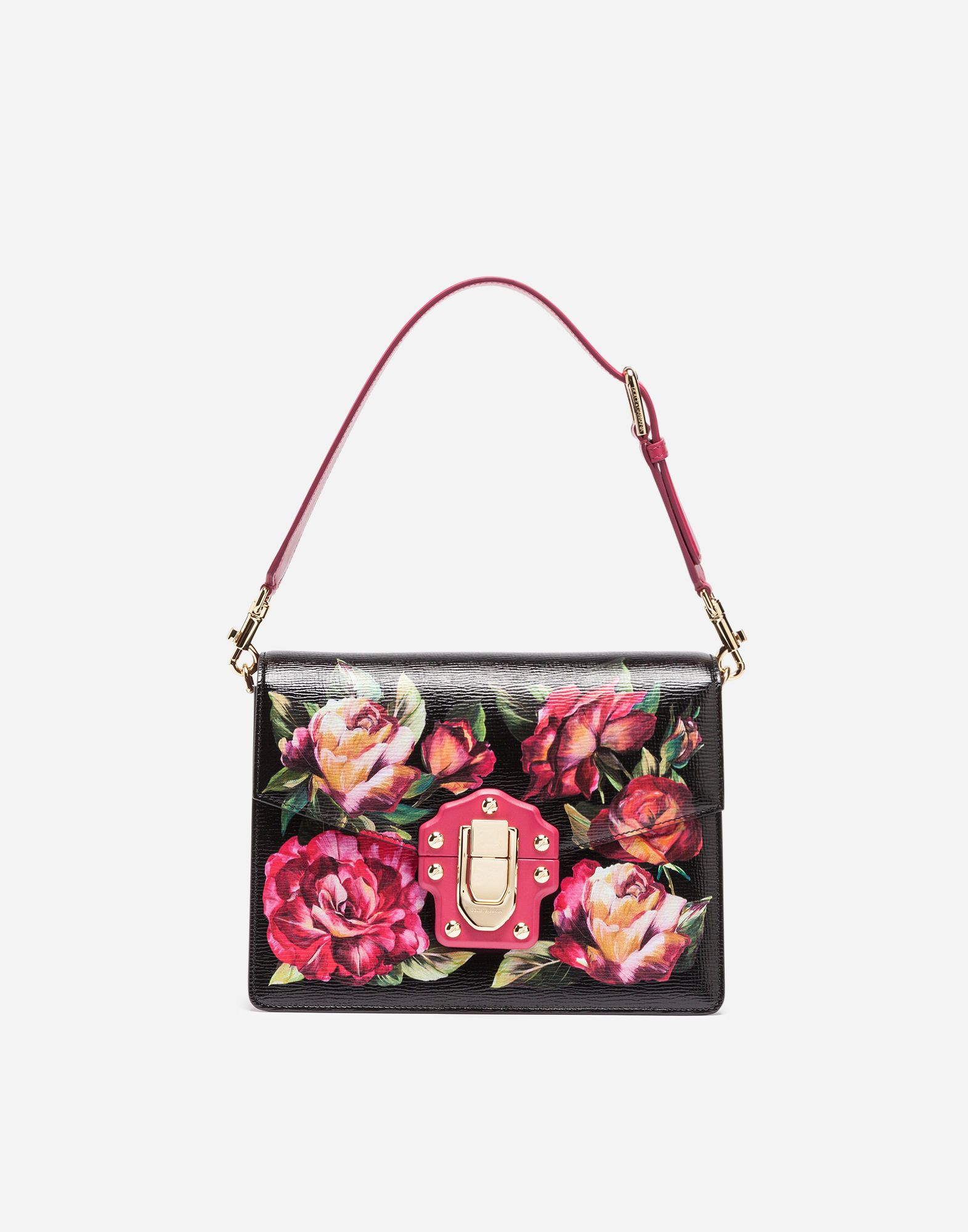 22684bb041 DOLCE & GABBANA PRINTED LEATHER LUCIA SHOULDER BAG. #dolcegabbana #bags #shoulder  bags #leather #