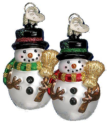 Miniature Mr. Snowy Glass Ornament