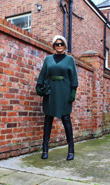 Fashion Adventures At Any Age : Green Jumper for Autumn