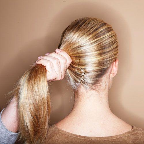 Lange haare flechten hochstecken