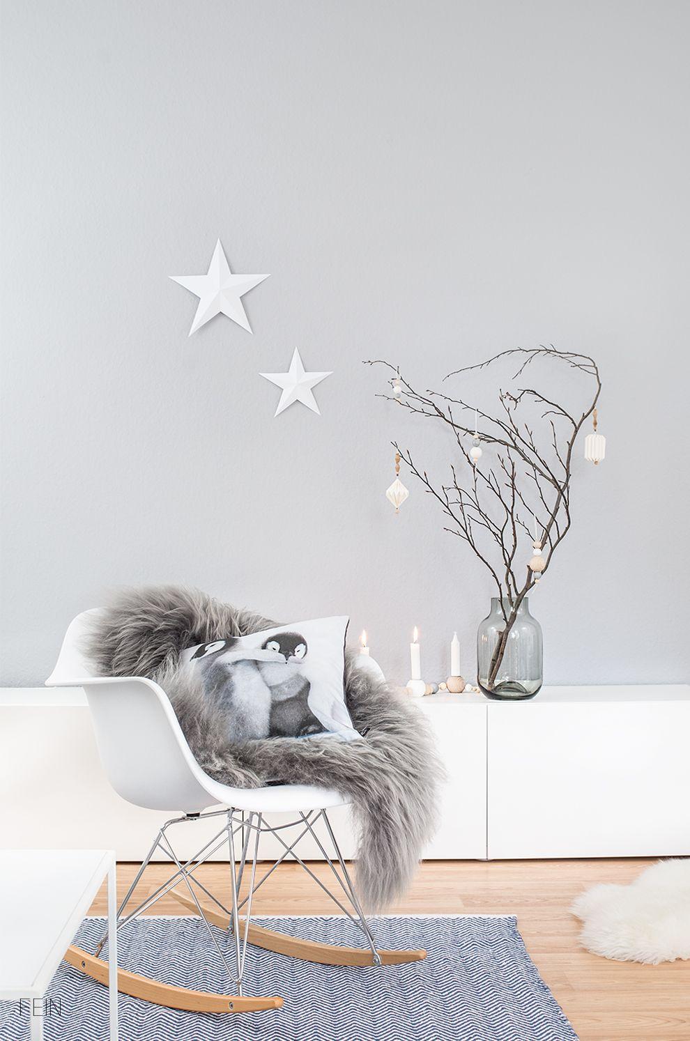 Wohnzimmer Winter Deko ...