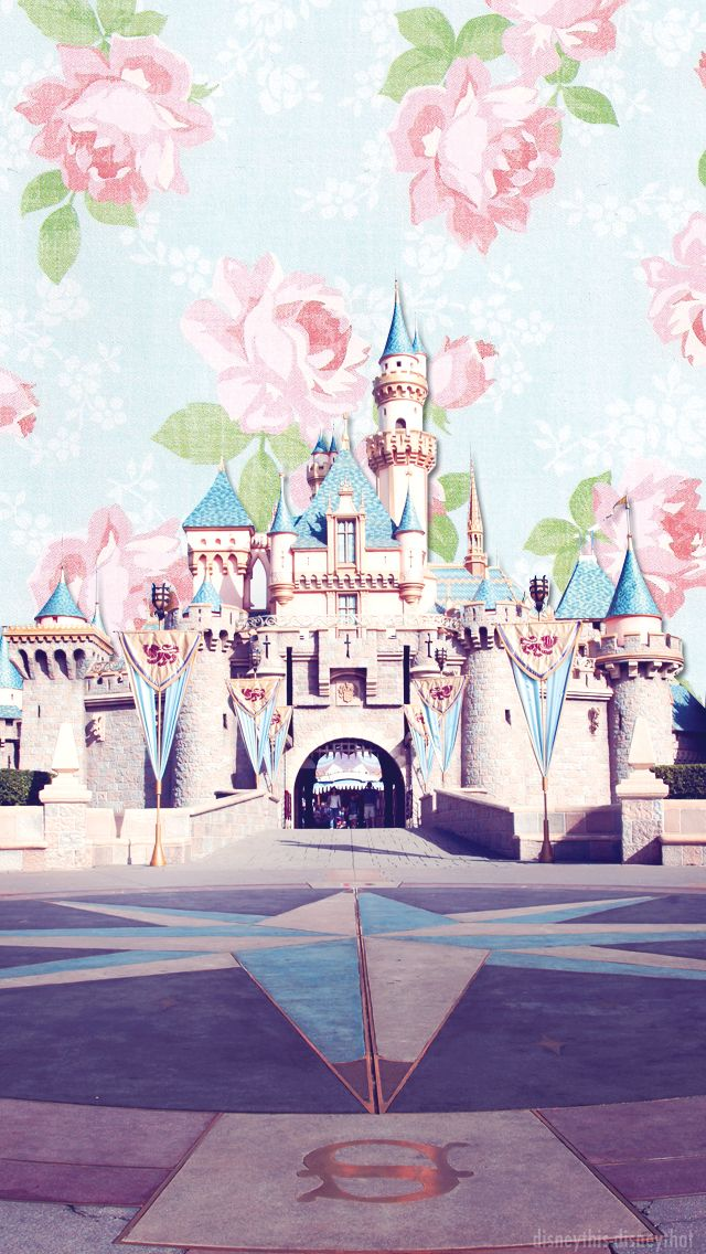 Disney Sleeping Beauty Castle floral vintage iphone case