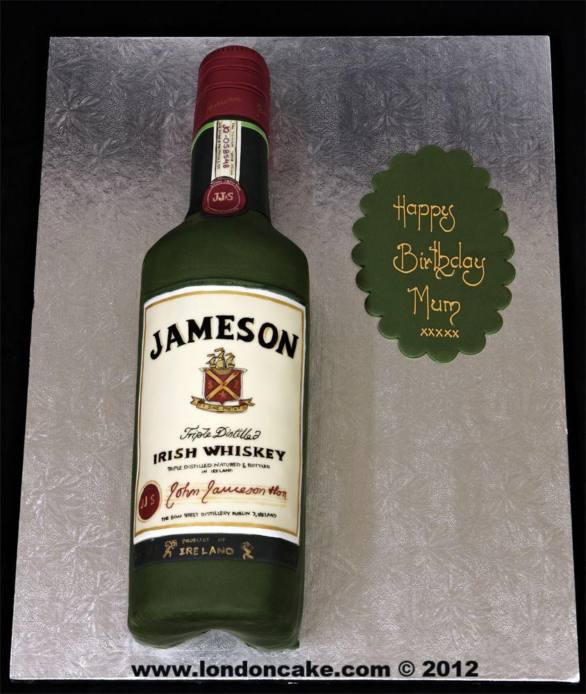 Jameson Whiskey Birthday Cake