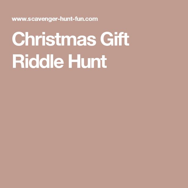 Christmas Gift Riddle Hunt