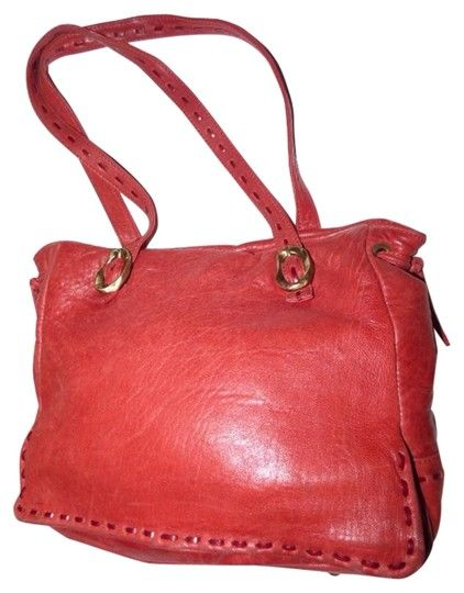 4059c8f073 Paolo Masi Timeless Style Lots Of Pockets Room Mint Condition Tote Satchel  Brass Hardware Satchel in buttery soft red leather