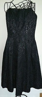 Neiman Marcus Sz8 David Meister Strapless black brocade cocktaildress, NWTs $410