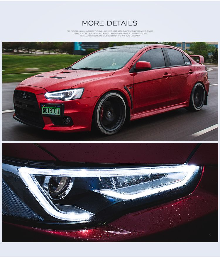 There Are Some Details Of Vland Mitsubishi Lancer Head Lamp There Are Differente Colors Cars Vland Car Mitsubishi Lancer Mitsubishi Lancer Evolution Lancer