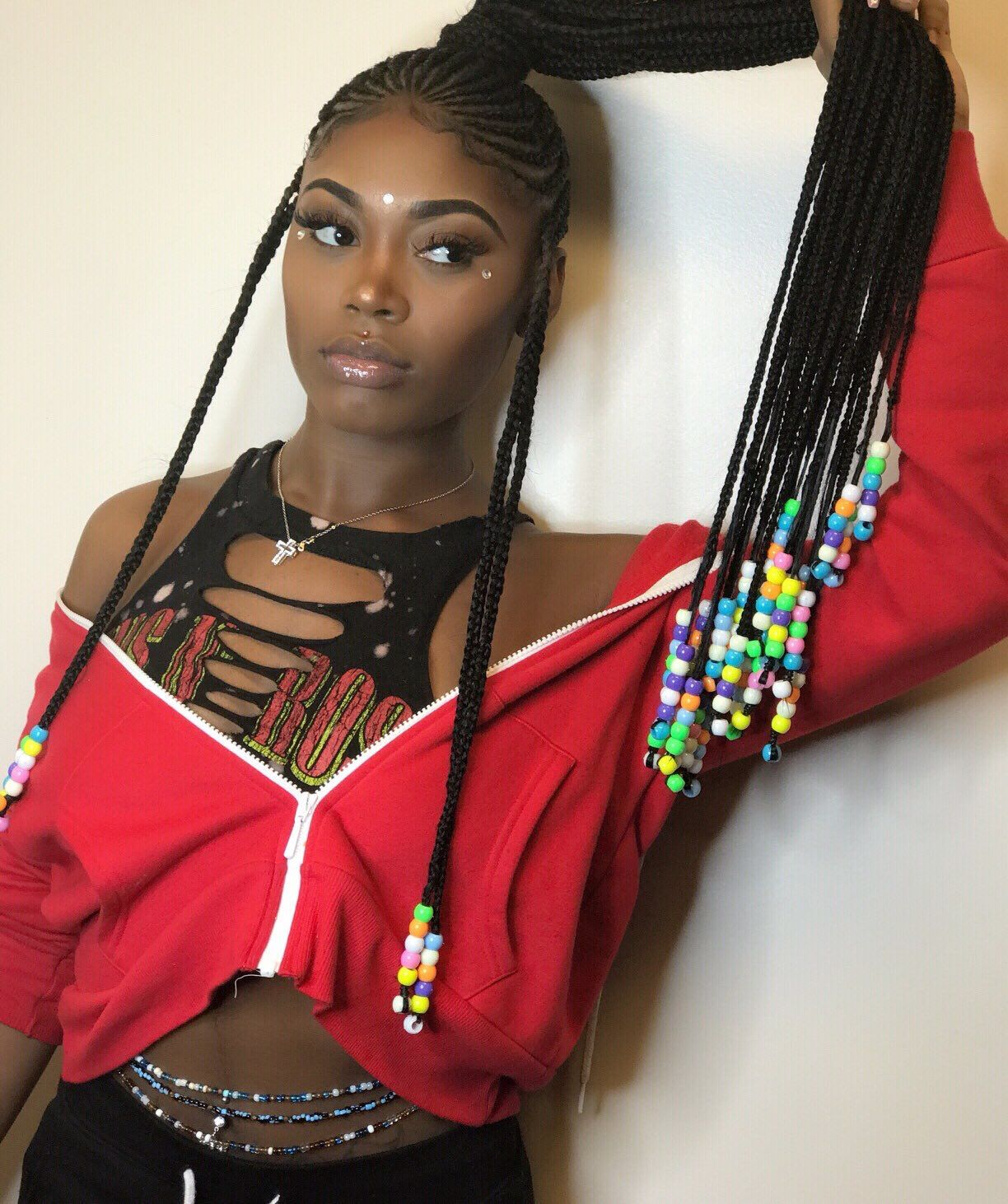 asian doll braided ponytail hairstyles