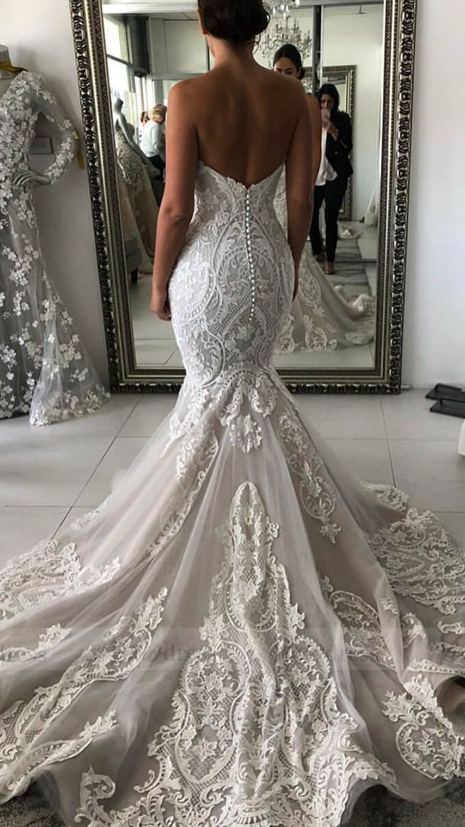 Backless Wedding Dress Trends To Inspire Brides In 2020 Lace Wedding Dress Vintage Lace Sweetheart Wedding Dress Wedding Dresses