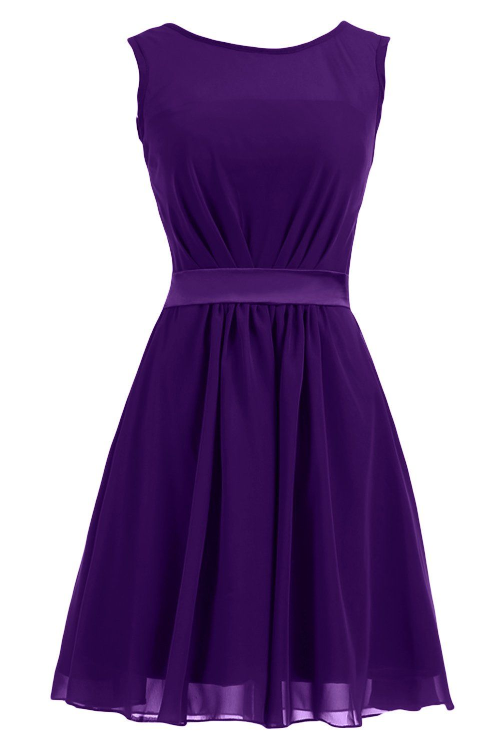 Short purple wedding dresses  Sunvary Summer Short Chiffon Sheath Mother of the Bride Dresses