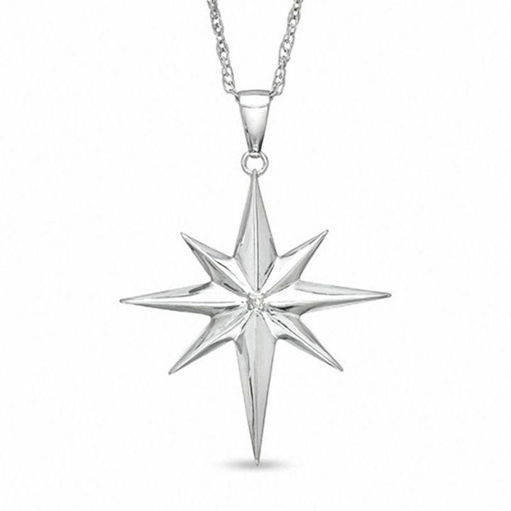 Precious moments diamond accent north star pendant in sterling precious moments diamond accent north star pendant in sterling silver star pendant sterling silver and pendants aloadofball Gallery