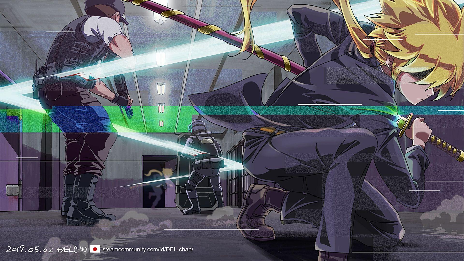 Steam Toplulugu Katana Zero Katana Katana Swords Fan Art