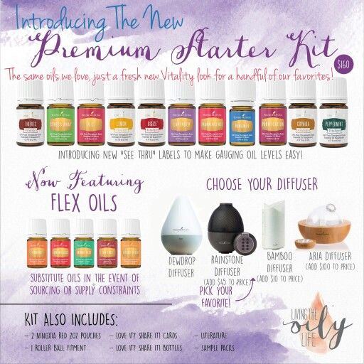 New Premium Starter kits are in! Become a member to get 24% off your oils.  No pressure, EVER, to sell. Email me rroom61@gmail.com or join directly at https://www.youngliving.com/vo/#/signup/start?sponsorid=3656274&enrollerid=3656274&isocountrycode=US&isolanguagecode=en&type=member