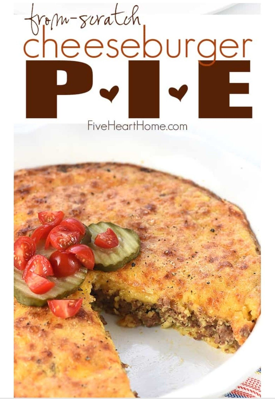 Cheeseburger Pie (without Bisquick) #impossiblecheeseburgerpie