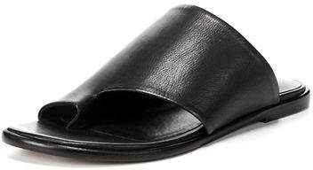 872e6083476842 Vince Edris Flat Siviglia Leather Slide Sandal
