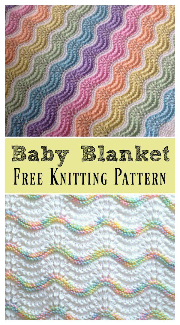 Feather and Fan Rainbow Baby Blanket Free Knitting Pattern | Tejer ...
