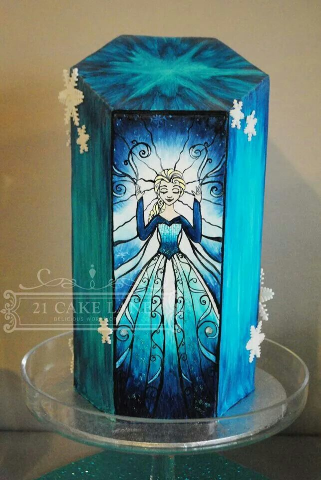 Is this really cake?  Amazing Frozen Hand-painted Cake