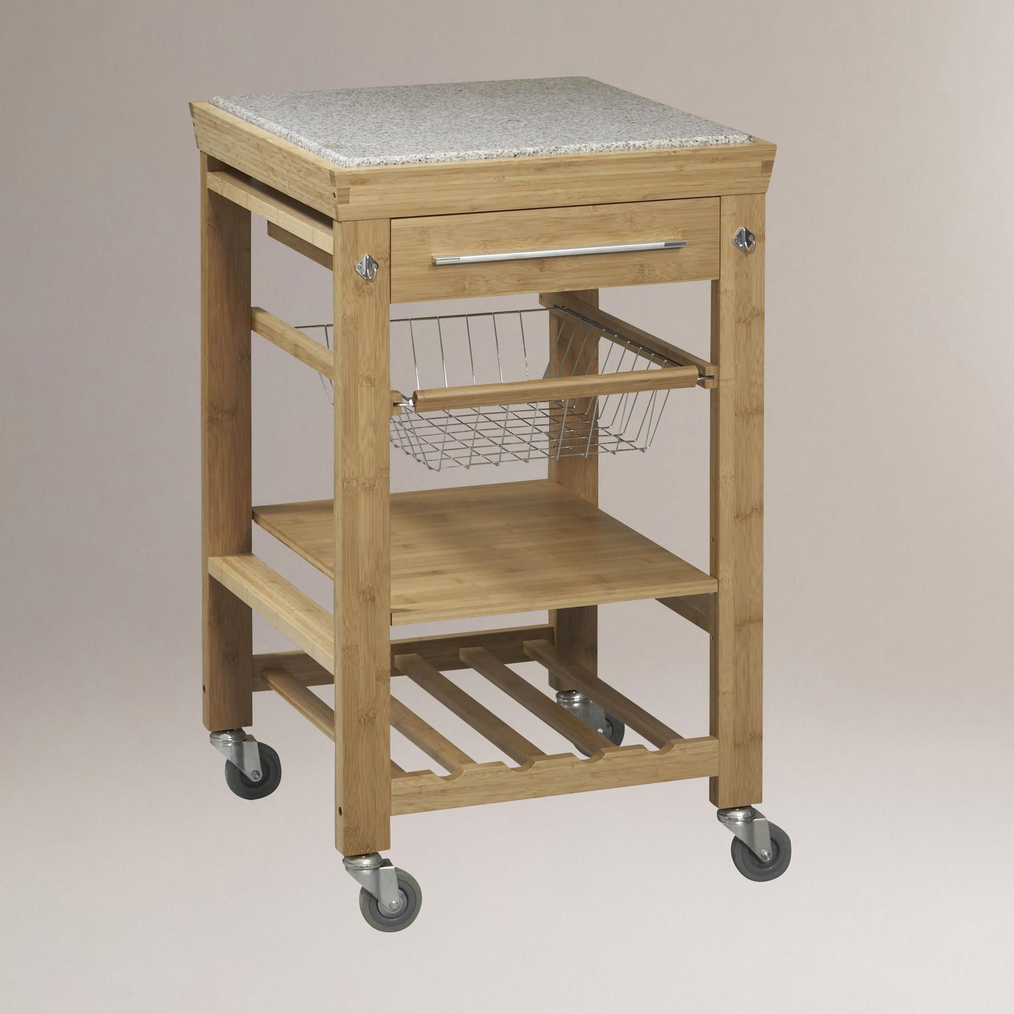 Bamboo Newhall Kitchen Island | World Market $179 | Home ...