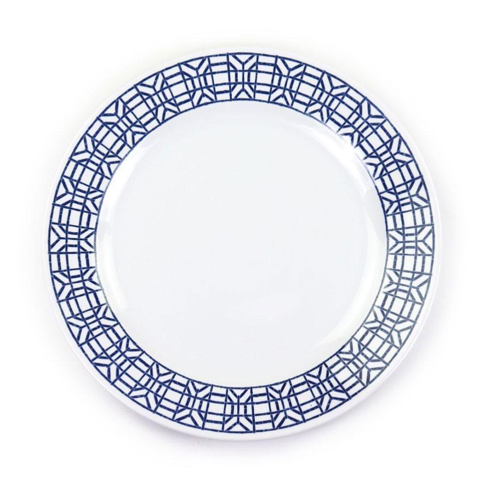 Navy Bamboo Melamine Dinner Plate Set Of 6 In 2020 Melamine Dinner Plates Dinner Plate Sets Plate Sets