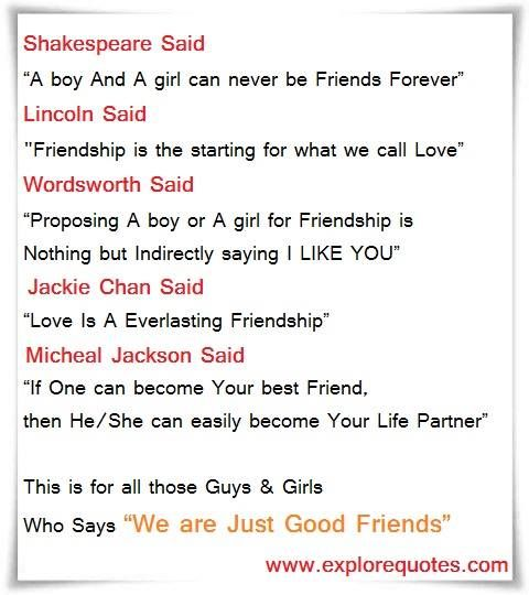 Friends Lovers Quotes Sayings We Are Just Good Friends Love Quotes