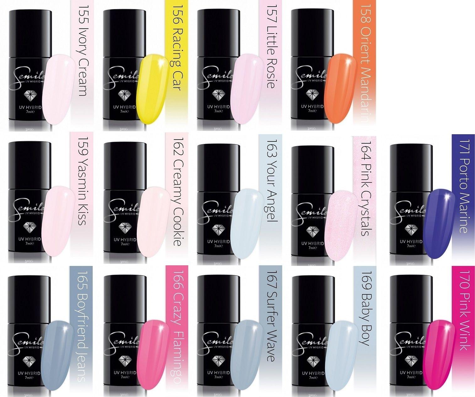 Semilac Lakiery Hybrydowe Do Lampy Uv 7ml Wyprzedaz Fun Nail Colors Manicure Nail Colors