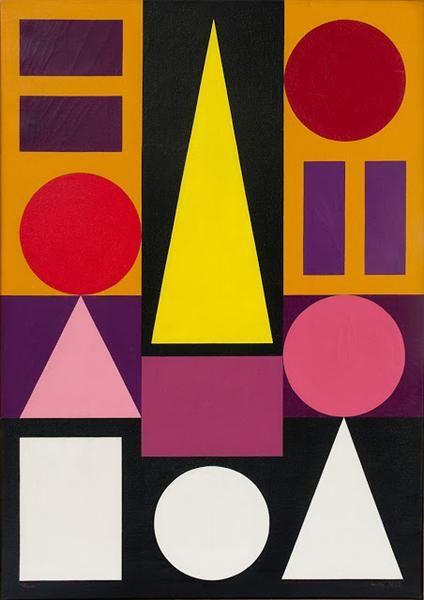 Blanc 1947 Auguste Herbin Geometric Art Abstract Art