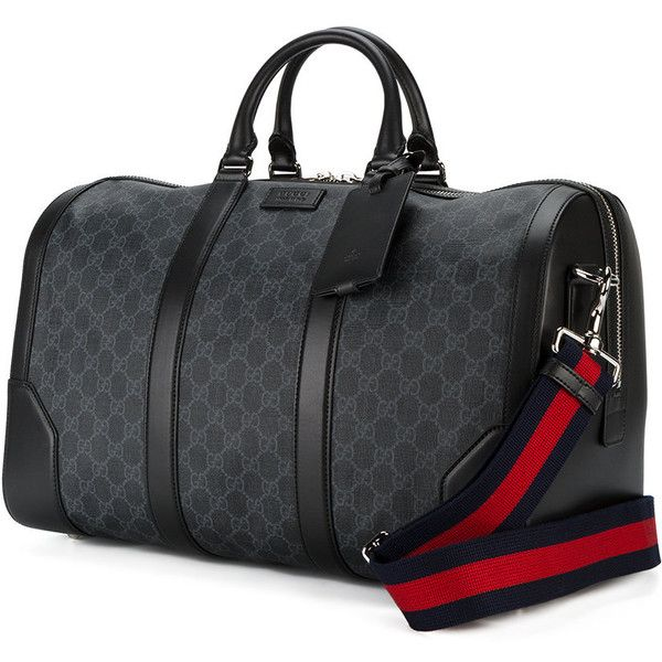 fbfcfb294 Gucci GG Supreme soft carry-on duffle ($1,955) ❤ liked on Polyvore  featuring men's fashion, men's bags, gucci mens bag, mens duffle bags,  men's duffel bags ...