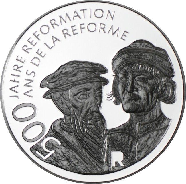 20 Franken Silber Reformation Pp Jahr Der Maus Munzsammlung Munzsammler