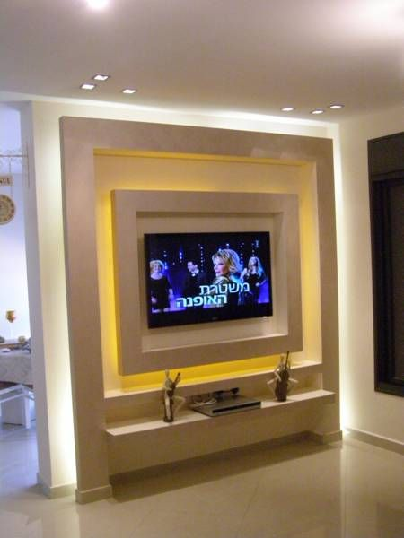 Latest Tv Unit Design: קיר גבס לטלוויזיה - Google Search