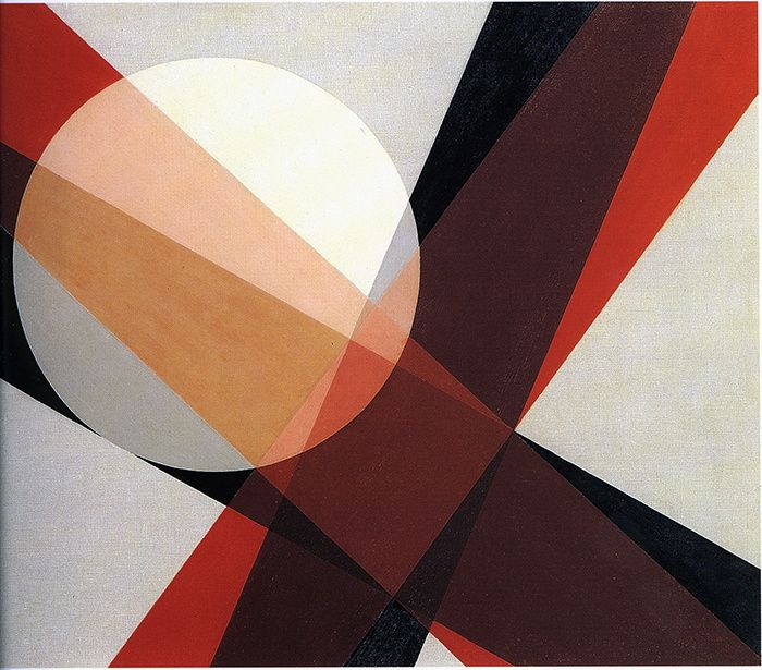 "amare-habeo: ""  Laszlo Moholy Nagy (Hungarian, 1895-1946) A 19, 1927 Oil on canvas """
