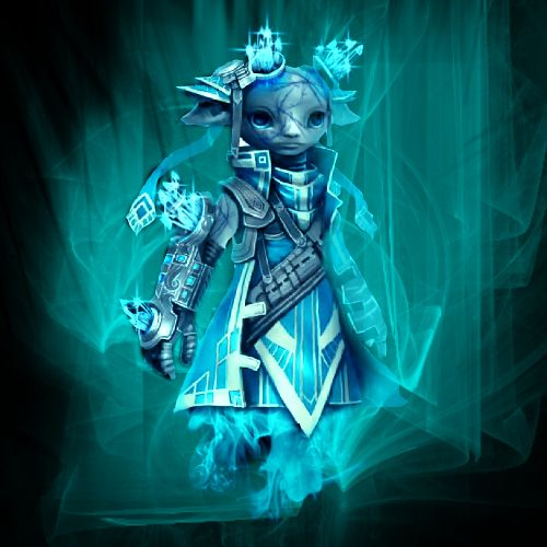 """Inanc submitted this piece: """"Here is my frosty zojja photo manipulation.  icy Guild Wars 2 asura by ~R-e-p-l-i-c-a on deviantART"""