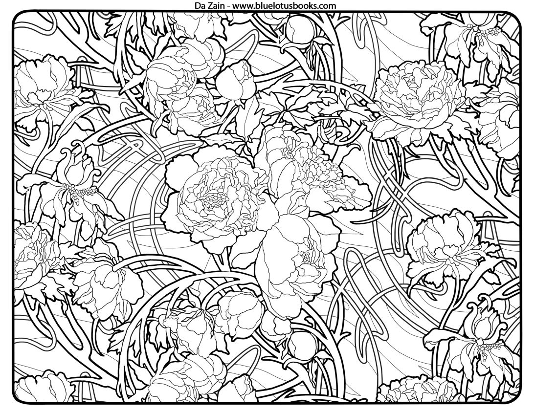 Lotus designs coloring book - Free Coloring Pages From Adult Coloring Worldwide Art Brought To You By Da Zain Of