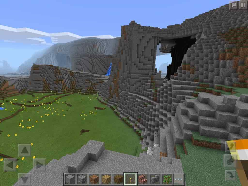 Mcpe Mountain Caves Seed Minecraft Mountain Minecraft Pe Seeds