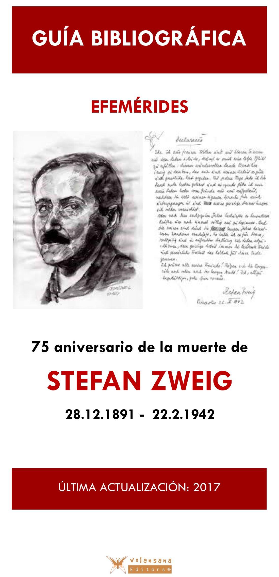 Bibliografía sobre la obra de Stefan Zweig