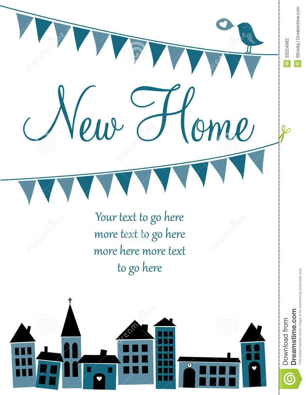 The Mesmerizing New Home Card Stock Vector Illustration Of Home Sale Pertainin The In 2020 Birthday Cards For Mom Card Templates Printable Card Templates Free
