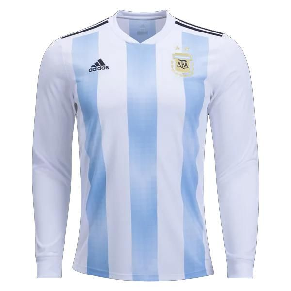 2bddcd6f359 adidas Home Argentina Long Sleeve World Cup Jersey 2018 (White/Sky ...