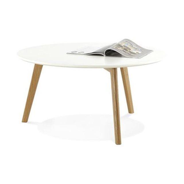 Table basse blanche ronde scandinave ELSA Interiors