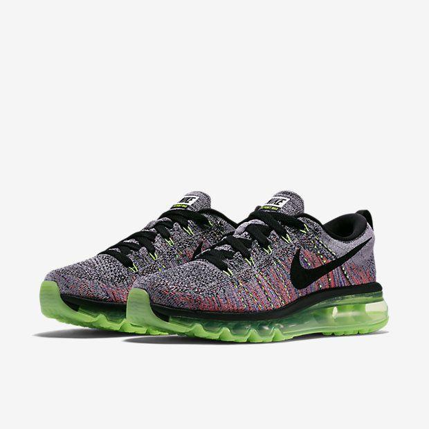 Nike Flyknit Max Womens Running Shoes White Black Ghost Green 620659 103   Nike  RunningCrossTraining f2c950d7bbeb