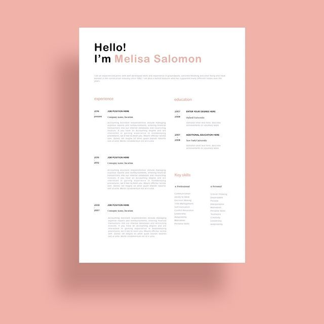 Microsoft Word Resume Template For Mac Creative And Professional Resume Template In Microsoft Wordcv With .