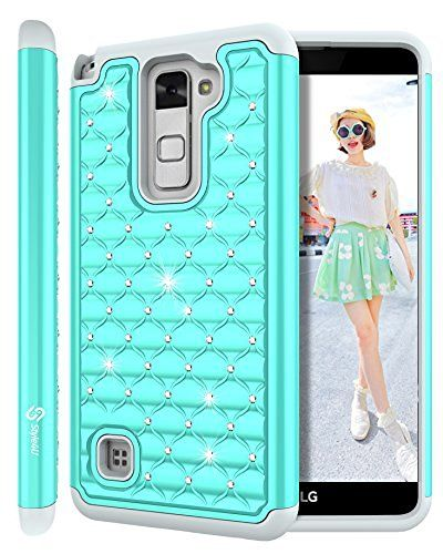 buy online 074f5 7c4bf LG Stylus 2 Case, LG G Stylo 2 LS775 Case, Style4U Studded ...
