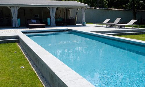 Piscine semi enterr e piscine pinterest piscine semi for Piscine semi enterree a debordement