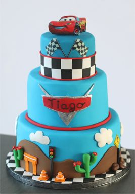 Gateau decor cars