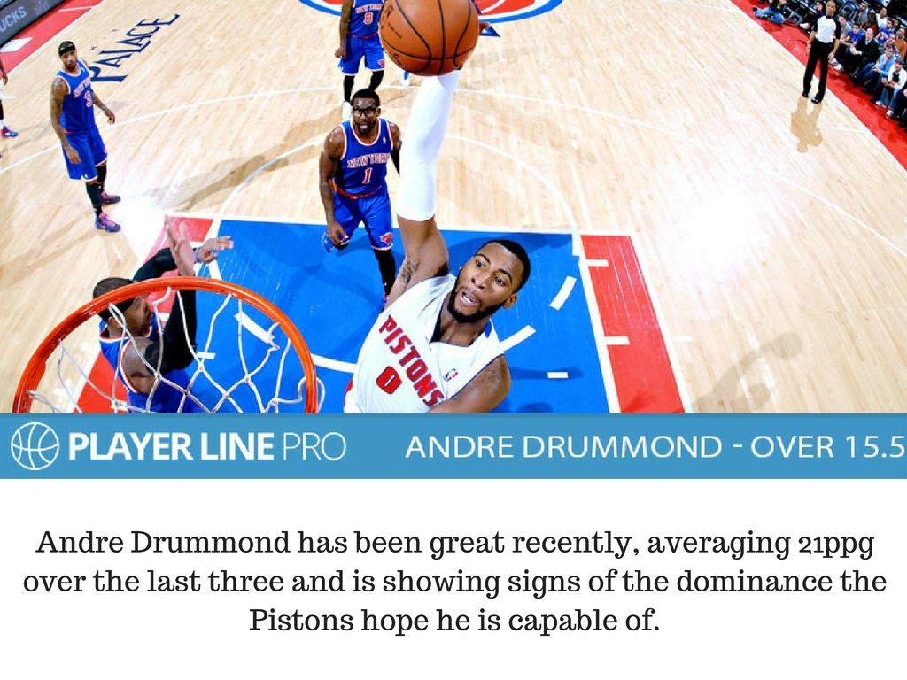 Daily tip of 12th December about Andre Drummond. He has