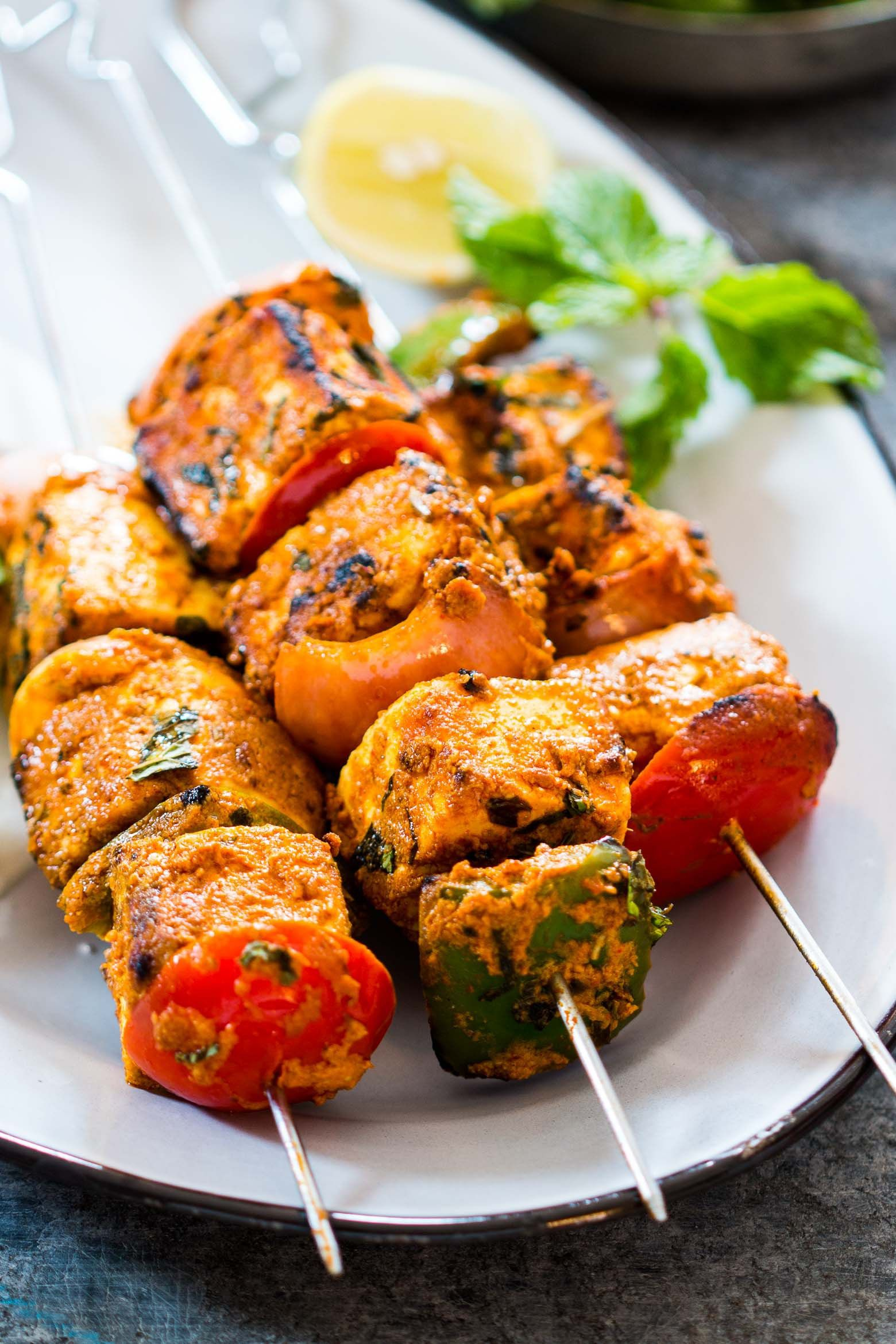 Tandoori Paneer Tikka In The Oven Recipe Tandoori Paneer